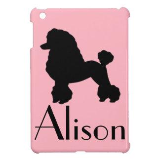 Customizable Pink Poodle Skirt iPad Mini Case