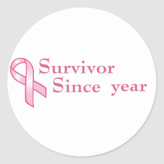 Customizable Pink Ribbon Sticker
