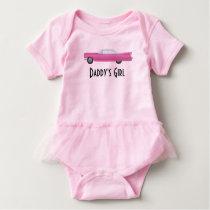 Customizable Pink Vintage Pink Cadillac Baby Bodysuit