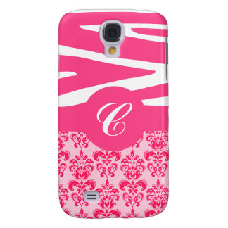 Customizable Pink Zebra & Damask iPhone Case Galaxy S4 Cover