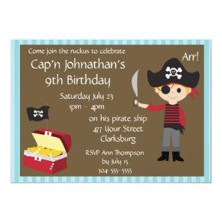 Customizable Pirate Boy Birthday Party 5x7 Paper Invitation Card
