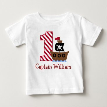 birthday Customizable Pirate First birthday shirt one year