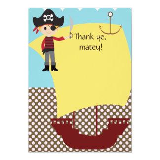 Customizable Pirate Ship Thank You 5x7 Paper Invitation Card