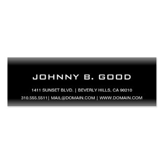 Customizable Plain Black & White Business Cards