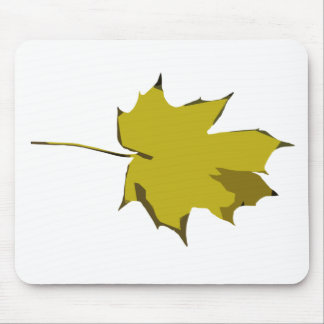 Customizable Plain Yellow and Green Fall Leaf Mouse Pad