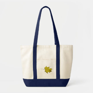 Customizable Plain Yellow and Green Fall Leaf Tote Bag