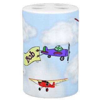 Customizable Plane Toothbrush Holder & Soap Pump