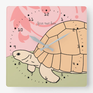 Customizable Ploughshare Tortoise Clock