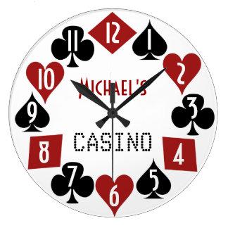 Customizable Poker Room Casino 2 Large Clock