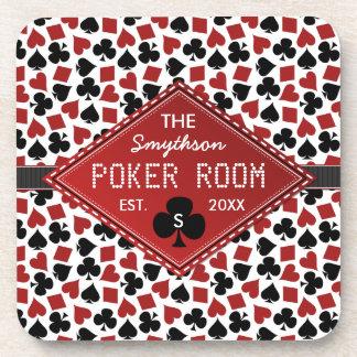 Customizable Poker Room Casino Drink Coasters