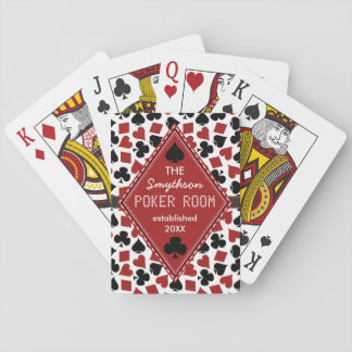 Customizable Poker Room Casino Custom Club Name Playing Cards