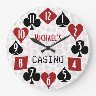 Customizable Poker Room Casino Large Clock