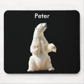 Customizable Polar Bear Mouse Pad