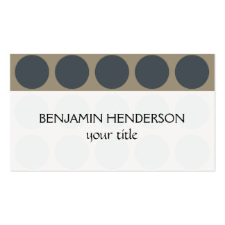 Customizable Polka Dots any Color on Latte Business Card