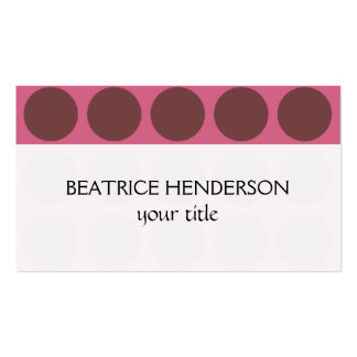 Customizable Polka Dots any Color on Pink Business Card