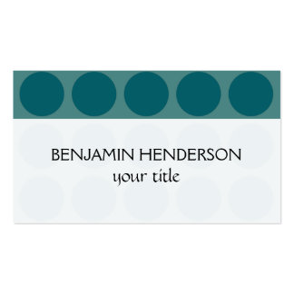 Customizable Polka Dots any Color on Teal Business Card