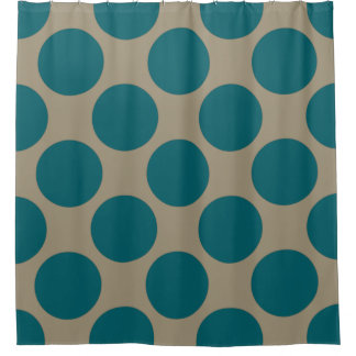 Customizable Polka Dots Pattern any Color on Latte Shower Curtain
