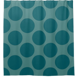Customizable Polka Dots Pattern any Color on Teal Shower Curtain