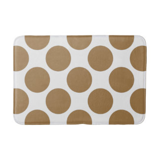 Customizable Polka Dots Pattern any Color on White Bath Mat