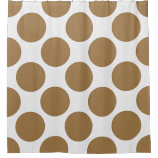 Customizable Polka Dots Pattern any Color on White Shower Curtain