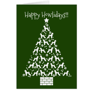 Customizable Poodle Holiday Card (German Cut)