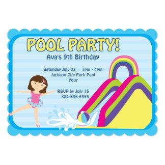 Customizable Pool Party Birthday Card