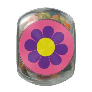 Customizable Pop Flower Power Glass Jars