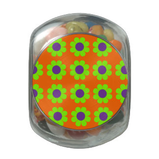 Customizable Pop Flower Power Jelly Belly Candy Jar