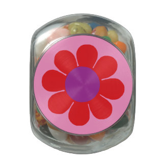 Customizable Pop Flower Power Jelly Belly Candy Jars