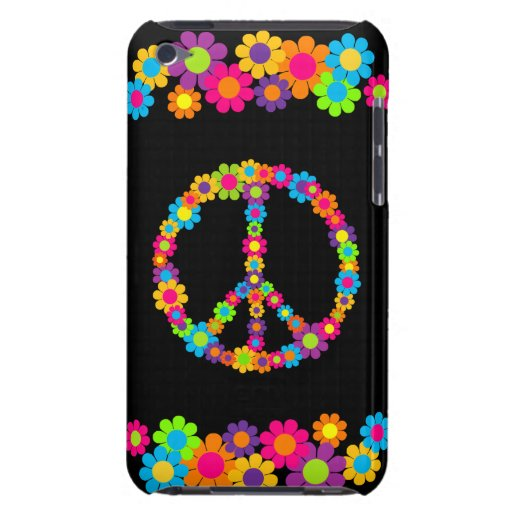 Customizable Pop Flower Power Peace iPod Touch Case