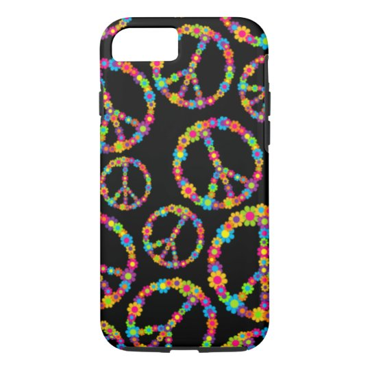 Customizable Pop Flower Power Peace iPhone 8/7 Case