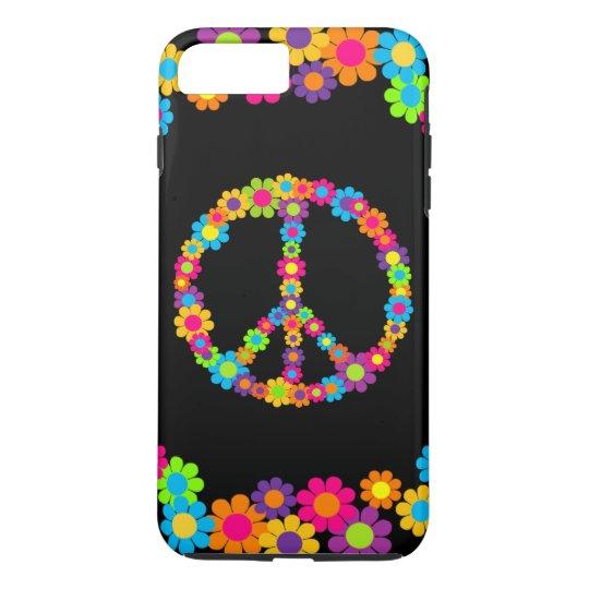 Customizable Pop Flower Power Peace iPhone 8 Plus/7 Plus Case