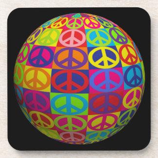 Customizable Pop Peace Ball Drink Coaster