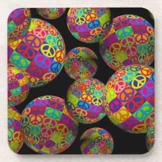 Customizable Pop Peace Balls Coaster