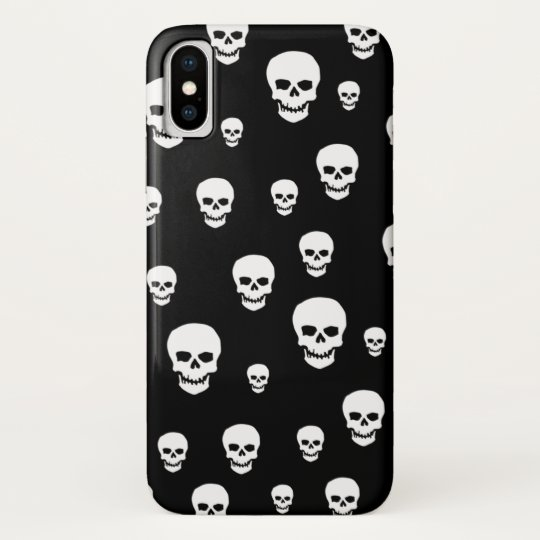 Customizable Pop Skulls iPhone X Case