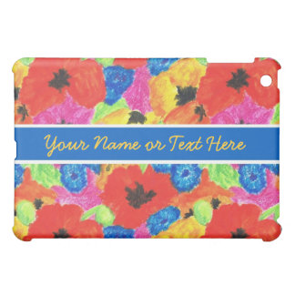 Customizable Poppies and Cornflowers  Cover For The iPad Mini