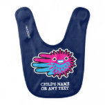Hand shaped Customizable Porcupine Puffer Fish Bib