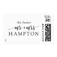 Customizable Postage Stamp The Future Mr and Mrs