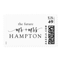 Customizable Postage Stamp The Future Mr And Mrs at Zazzle