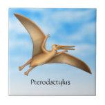 Customizable Prehistoric Pterodactyl Ceramic Tile