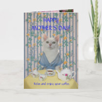 Customizable Pretty Cat/Kitty Mother's Day Thank You Card
