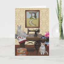 Customizable Pretty Cats Mother's Day Card
