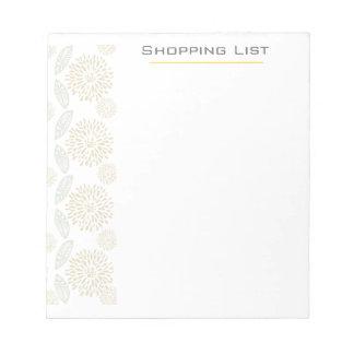 Customizable Pretty Elegant  Flowers Memo Note Pad