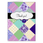 Customizable Pretty Patchwork Quilt Stationery Note Card