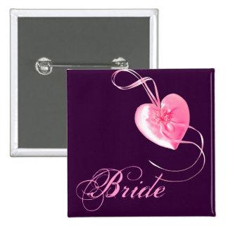 Customizable *Pretty Pink Heart* Love Design Pinback Buttons