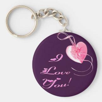 Customizable *Pretty Pink Heart* Love Design Keychain