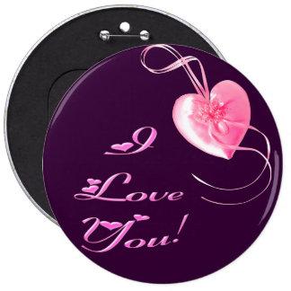 Customizable *Pretty Pink Heart* Love Design Pin