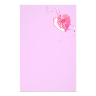 Customizable *Pretty Pink Heart* Love Design Personalized Stationery