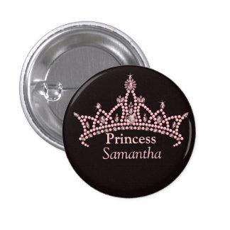 Customizable Princess Items Pink/Brown Button