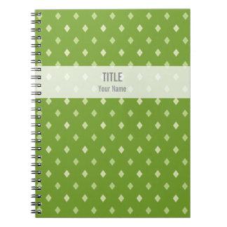Customizable Project Notebook: Green Argyle Notebook
